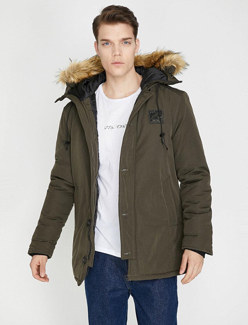 457d26ca3864f Erkek Uzun Kışlık Kaşe Kaban Modelleri ve Fiyatları | Koton