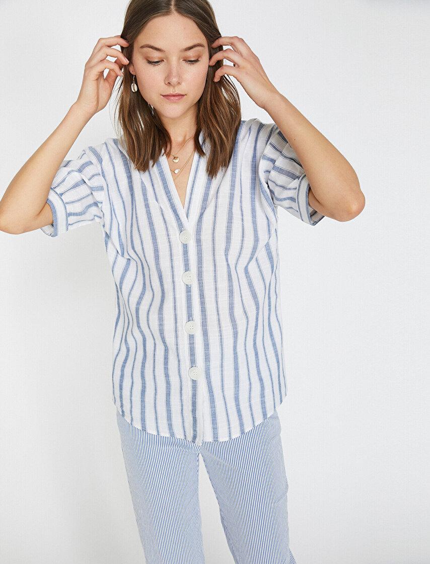 ebacea97c5b02 Bayan Gömlek Modelleri | Koton Gömlek