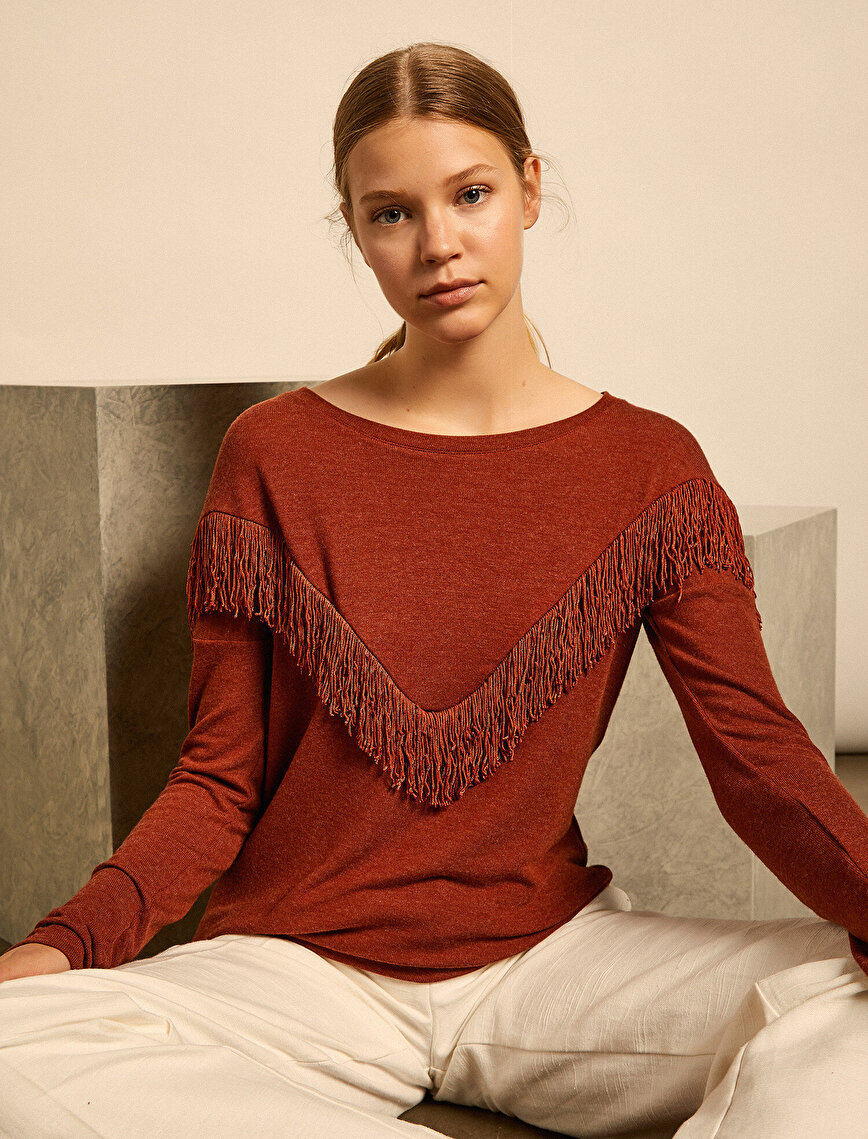 Tassel Detailed Blouse