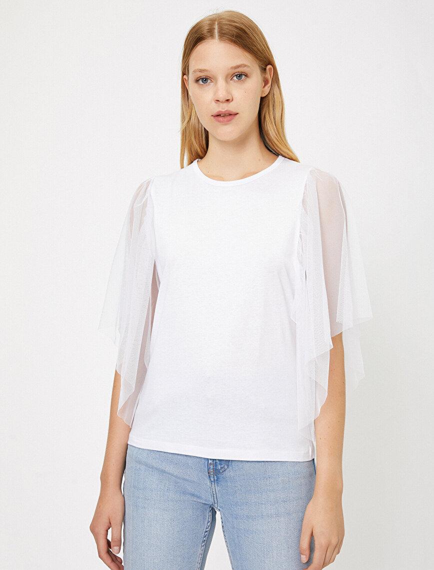 Tulle DetailedT-Shirt