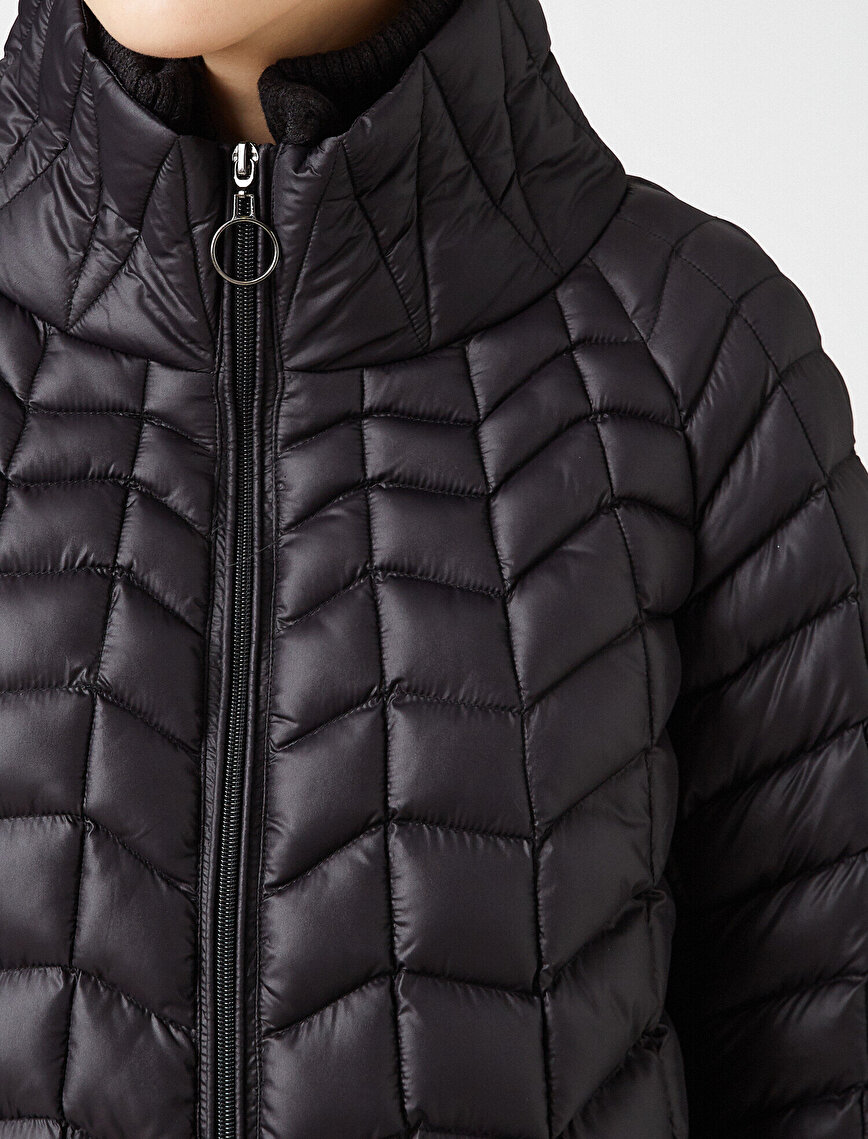 Stand Neck Quilted Coat