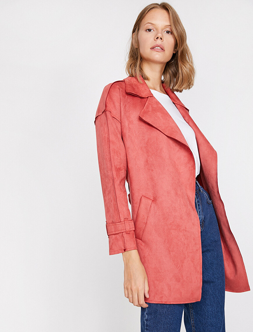Suede Look Trenchcoat