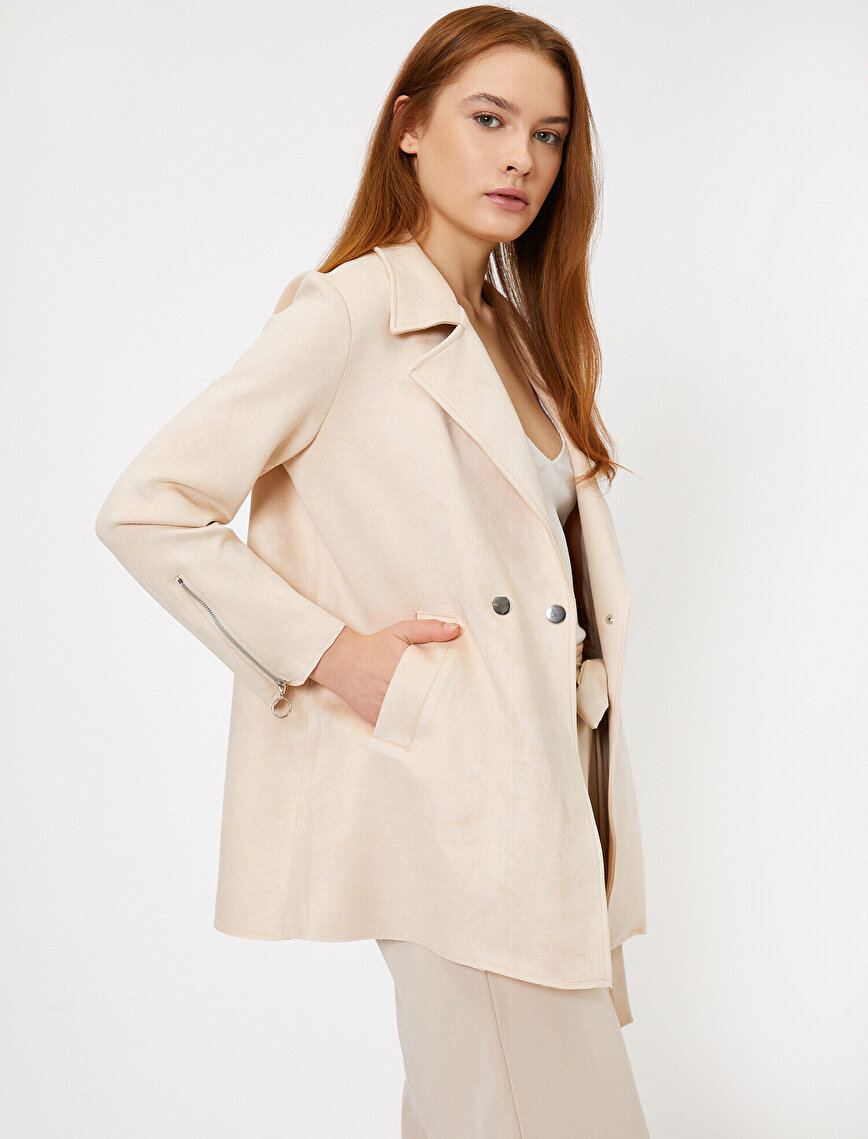 Pocket Detailed Trenchcoat