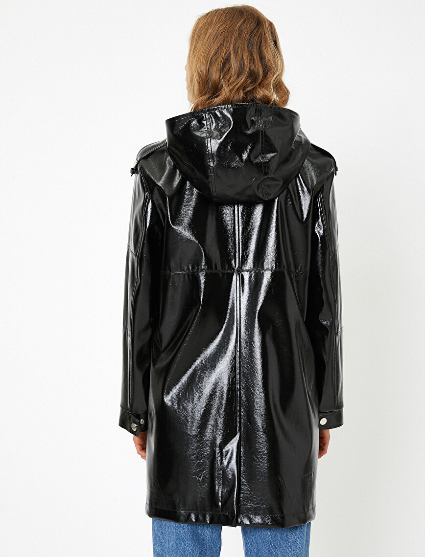 Leather Look Raincoat