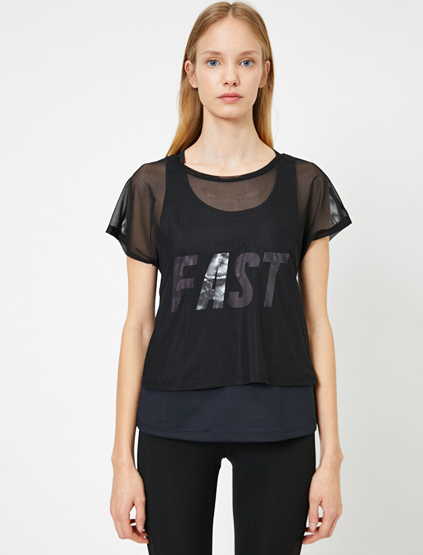 Tulle Detailed T-Shirt