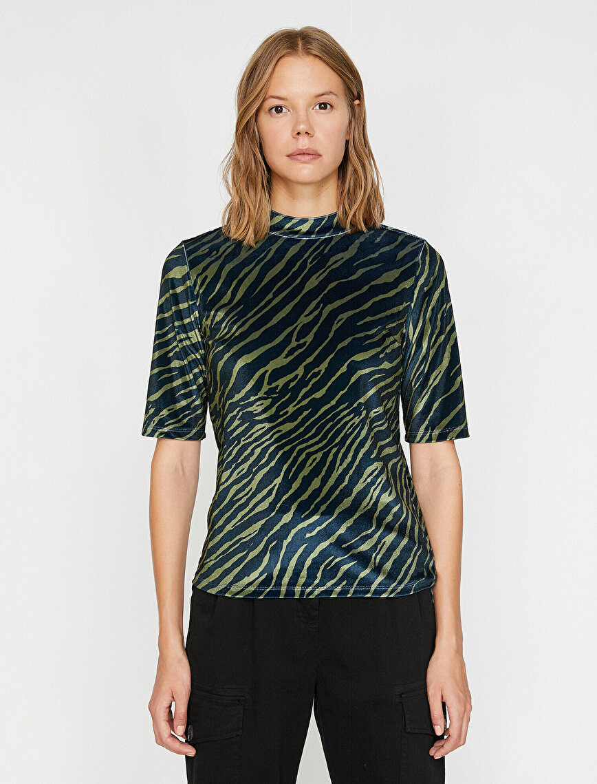 Zebra Patterned T-Shirt