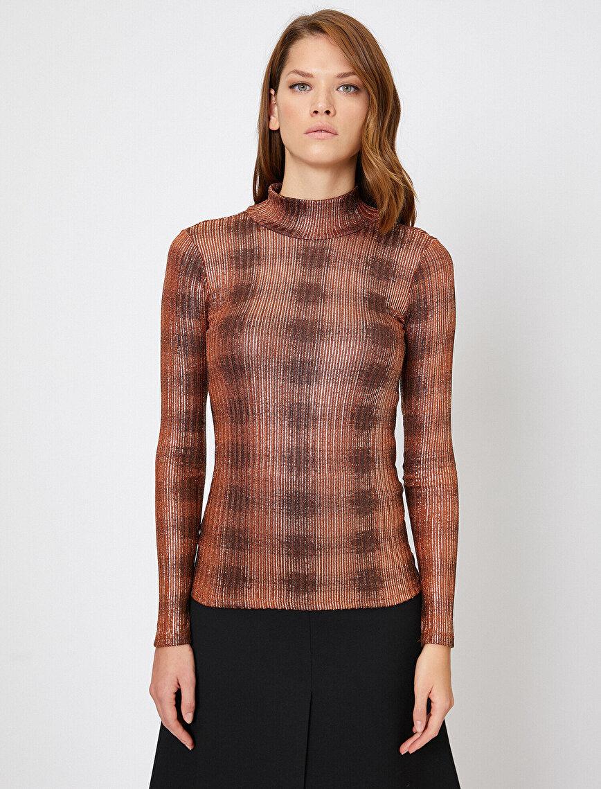 Long Sleeve, High Neck T-Shirt