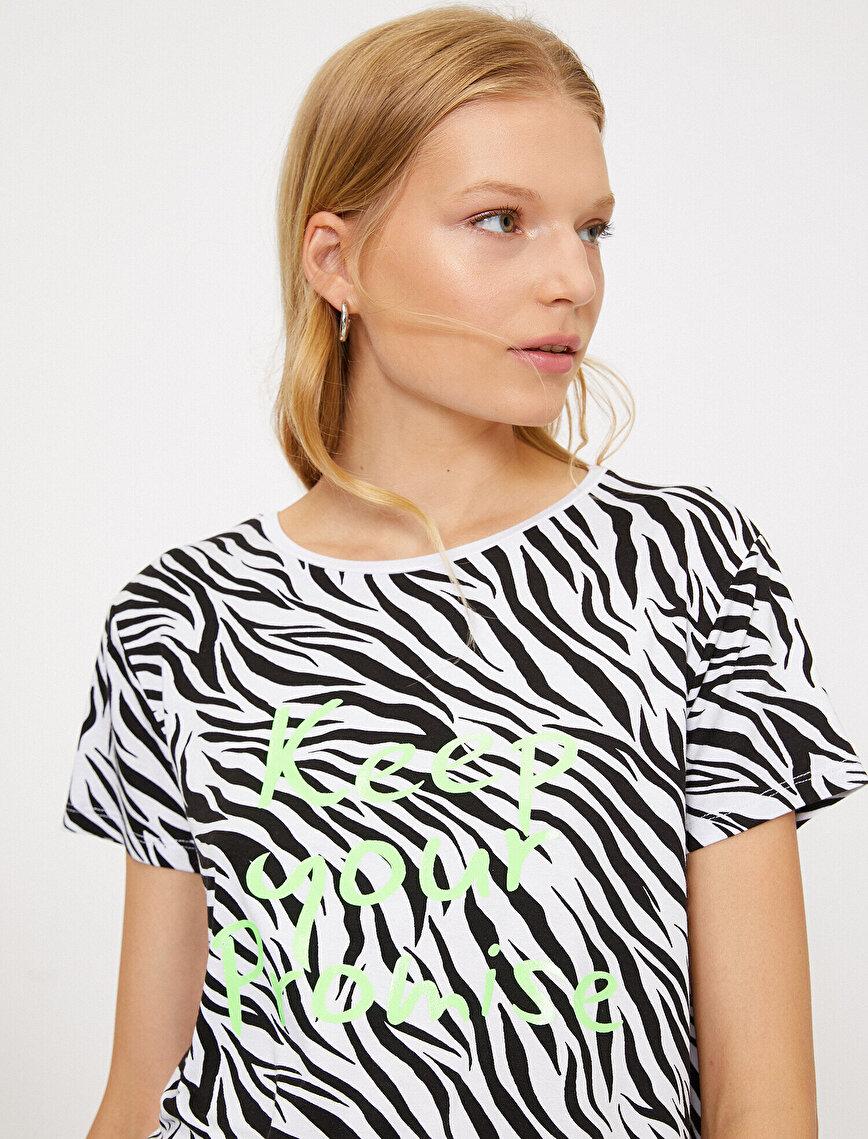 Zebra Desenli T-Shirt