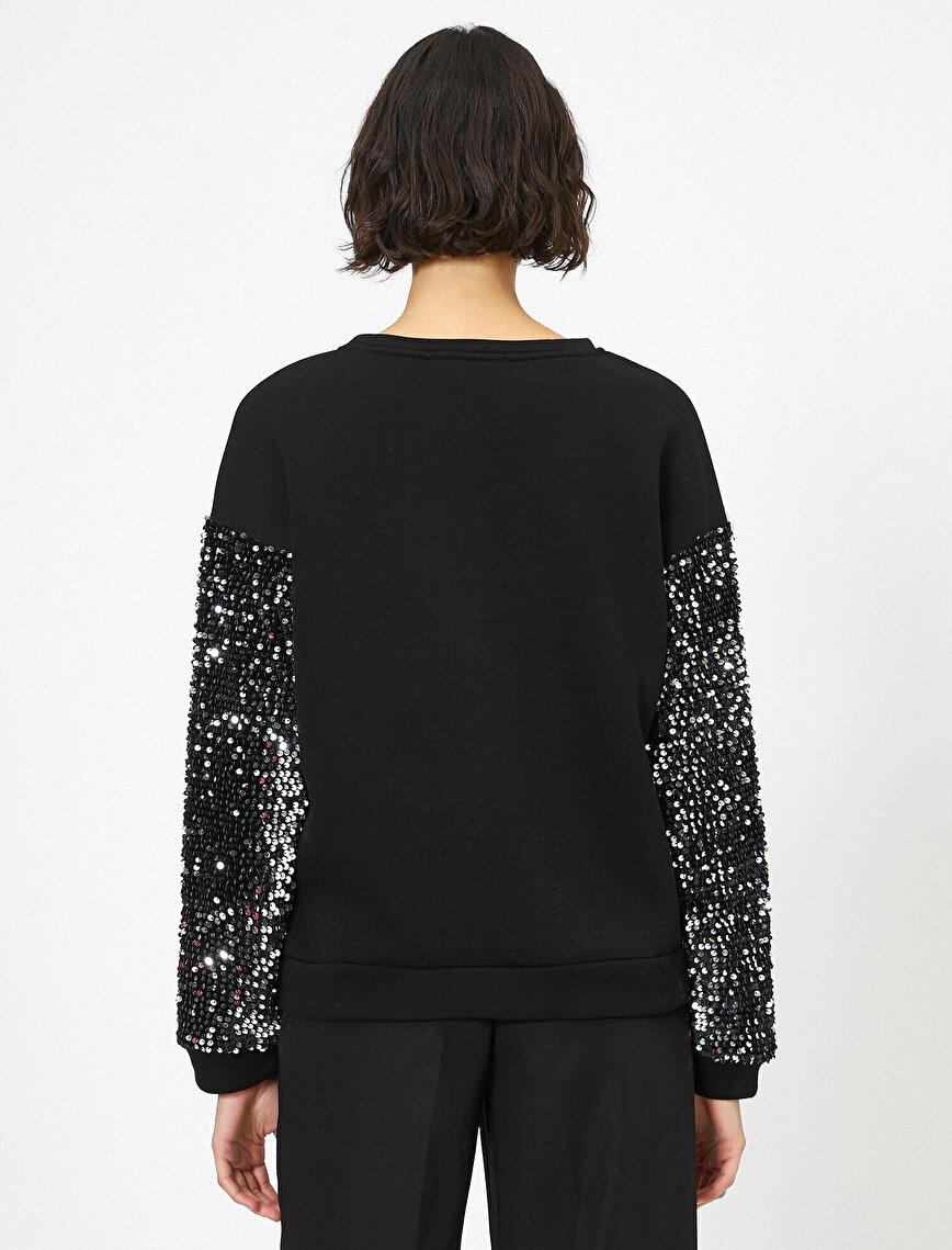 Sequin Detailed Sweatshirt