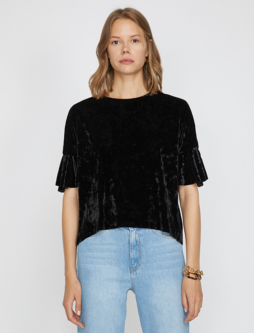 Volanlı T-Shirt
