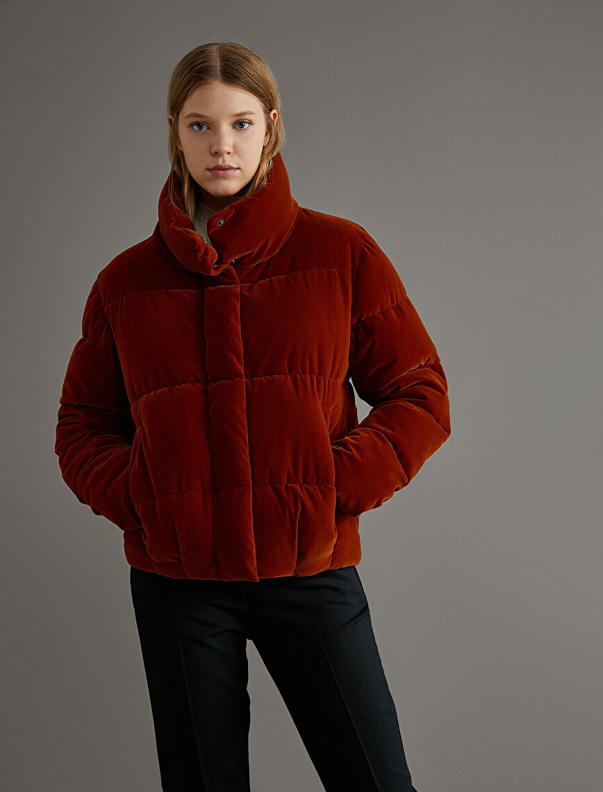 High Neck Puffer Coat