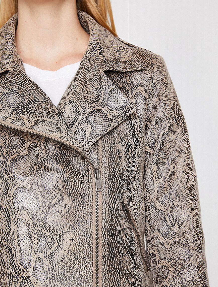 Snake Patterned Coat