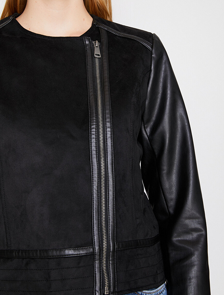 Süet Görünümlü Ceket