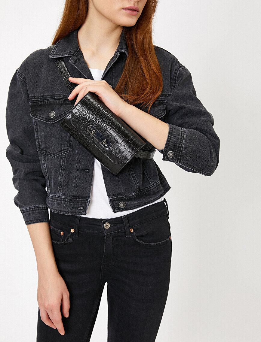Leather Look Belt Bag