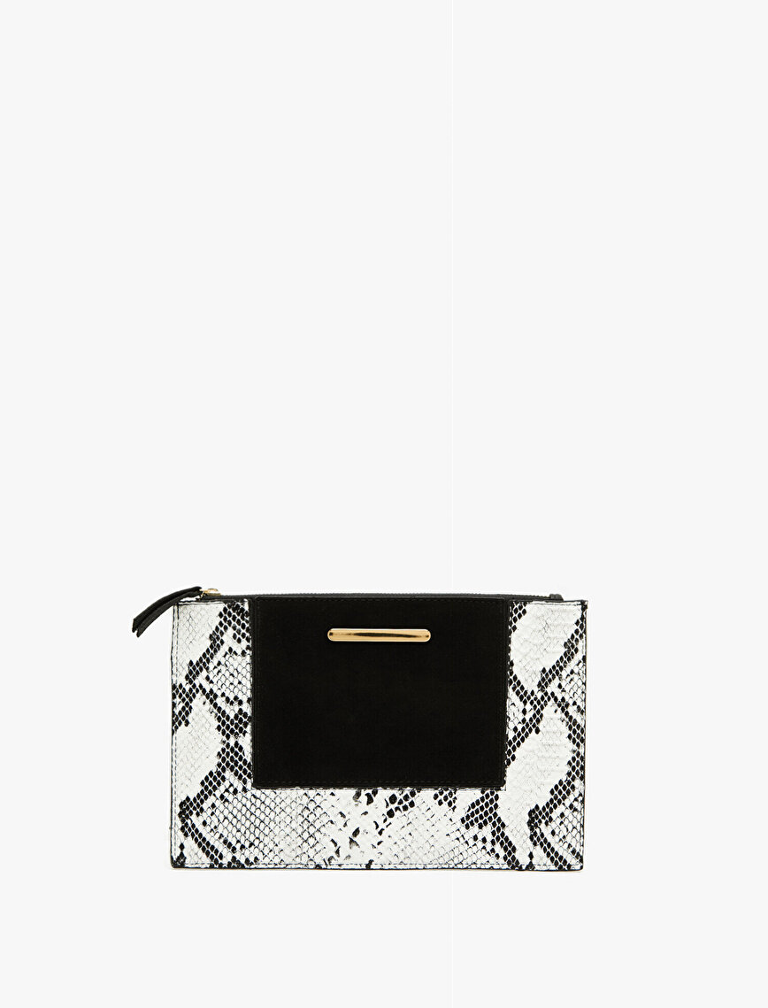 Snake Patterned Hand Bag