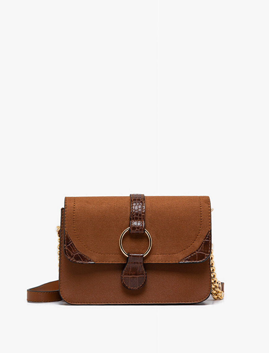 Suede Look Shoulder Bag
