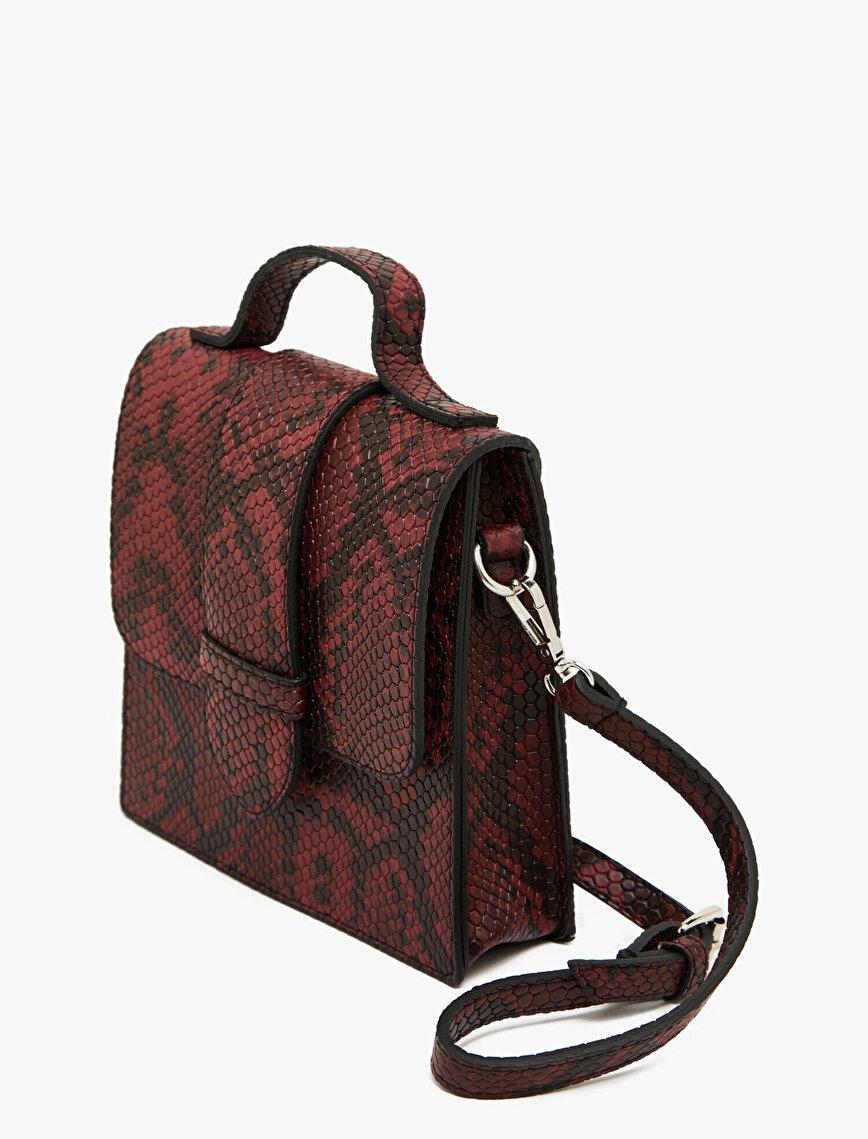 Snake Patterned Shoulder Bag