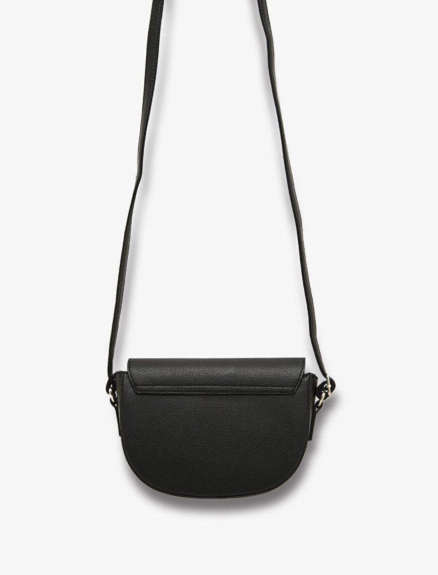Leather Look Shoulder Bag