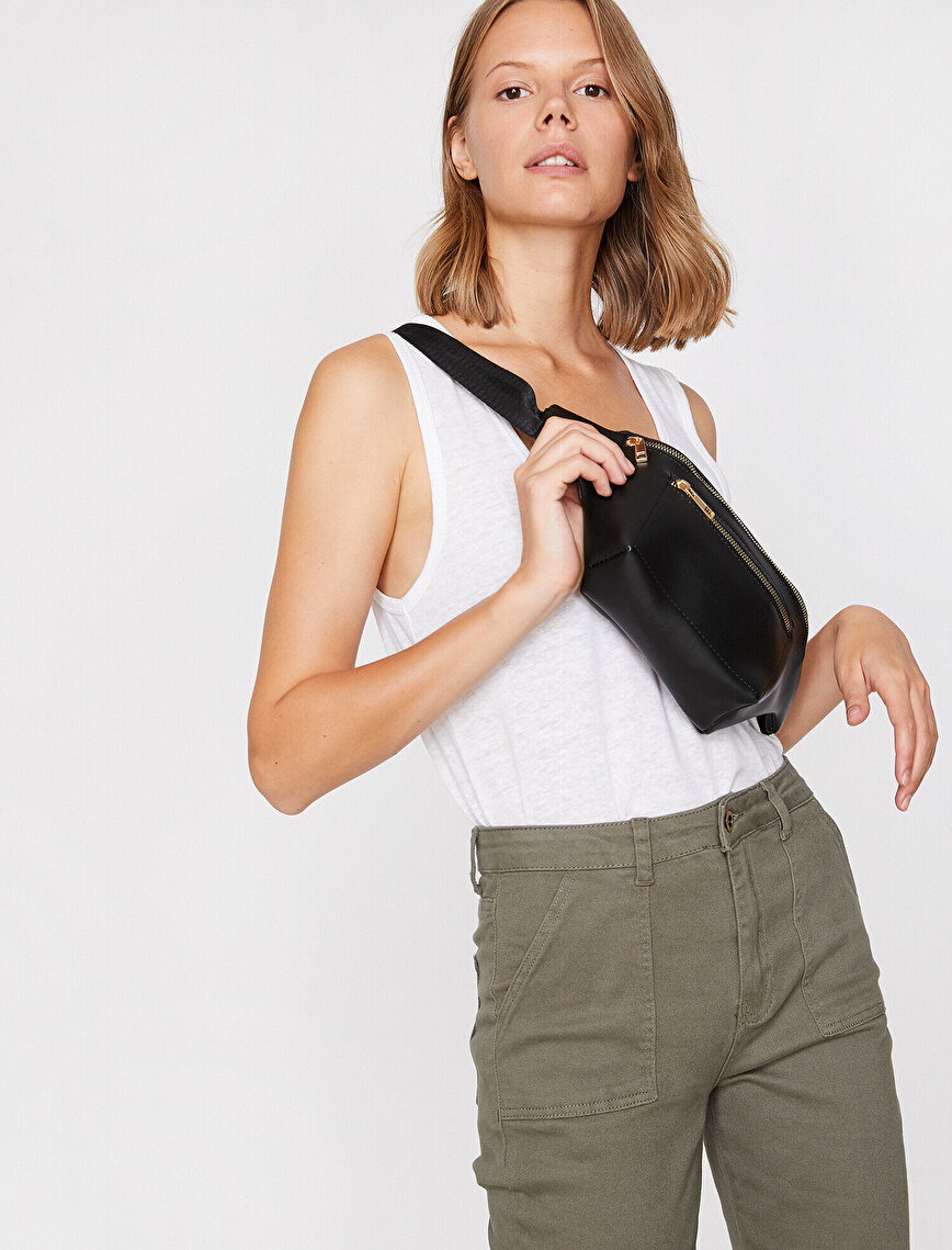 Leather Look Belt Bag