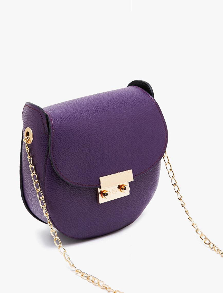 Leather Look Shoulder Bag