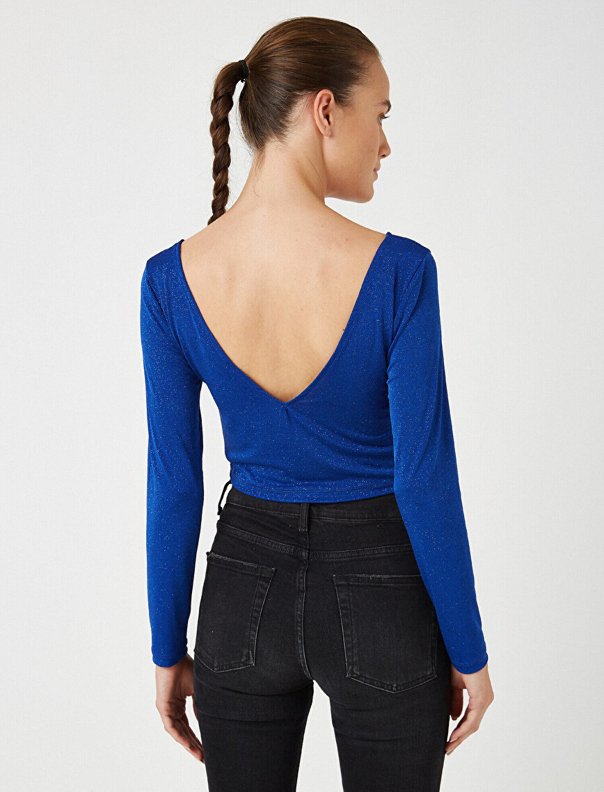 Sim Detaylı Bluz