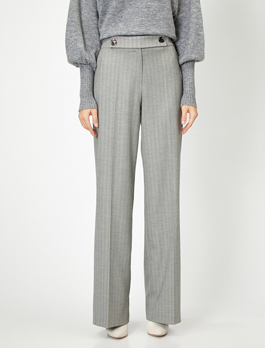 Button Detailed Trousers