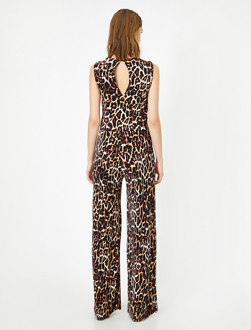 Leopard Patterned Jumpsuits