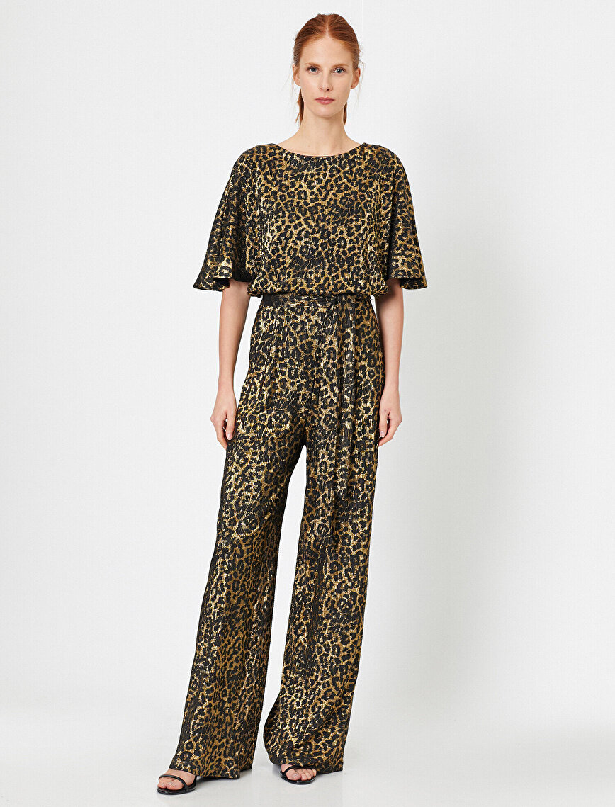 Leopard Patterned Jumpsuit