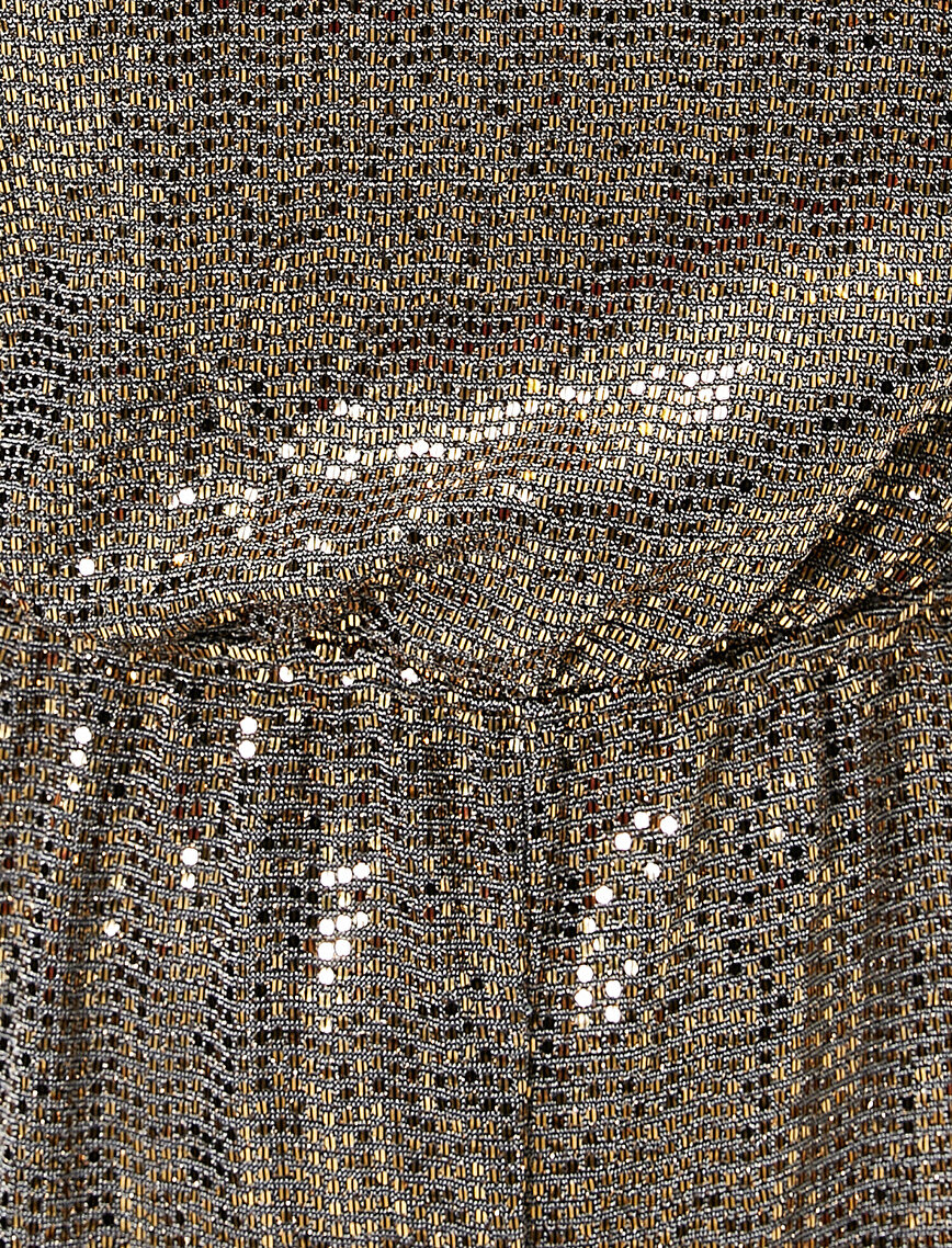 Sequinned Stand Neck Short Jumpsuit