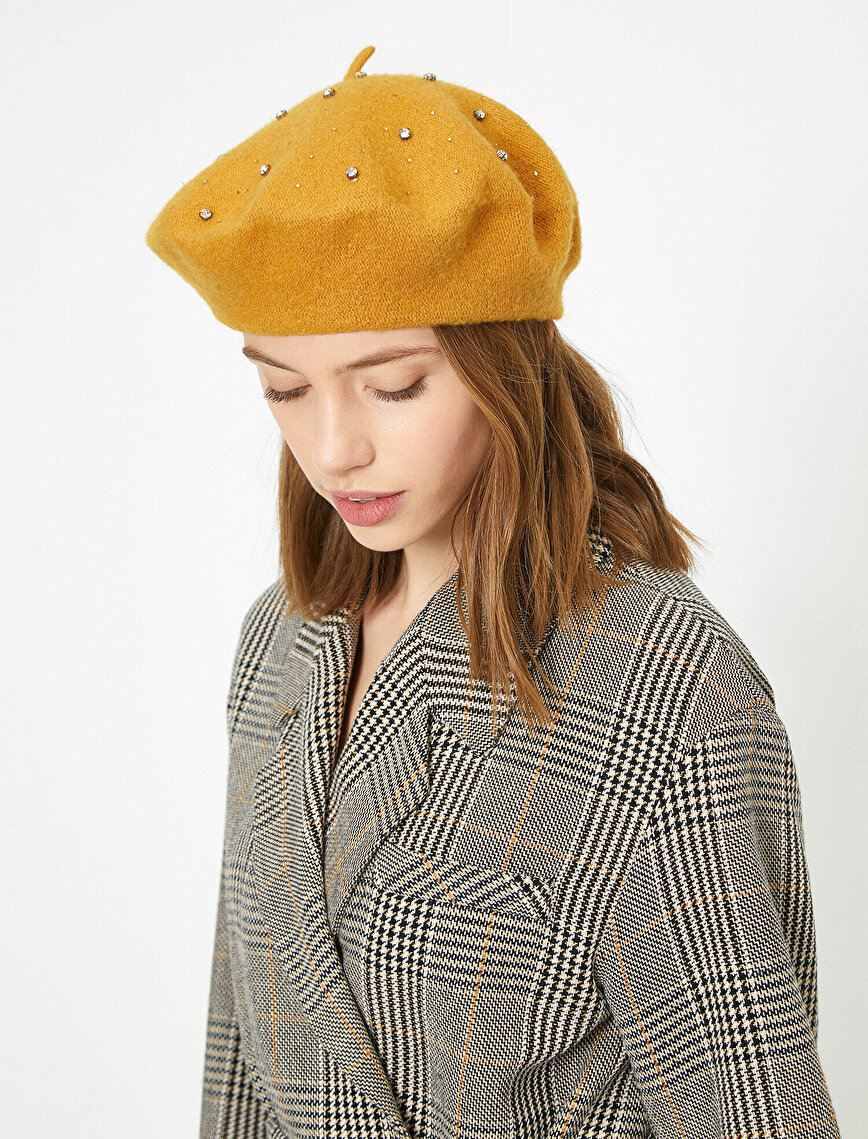 Stone Detailed Hat