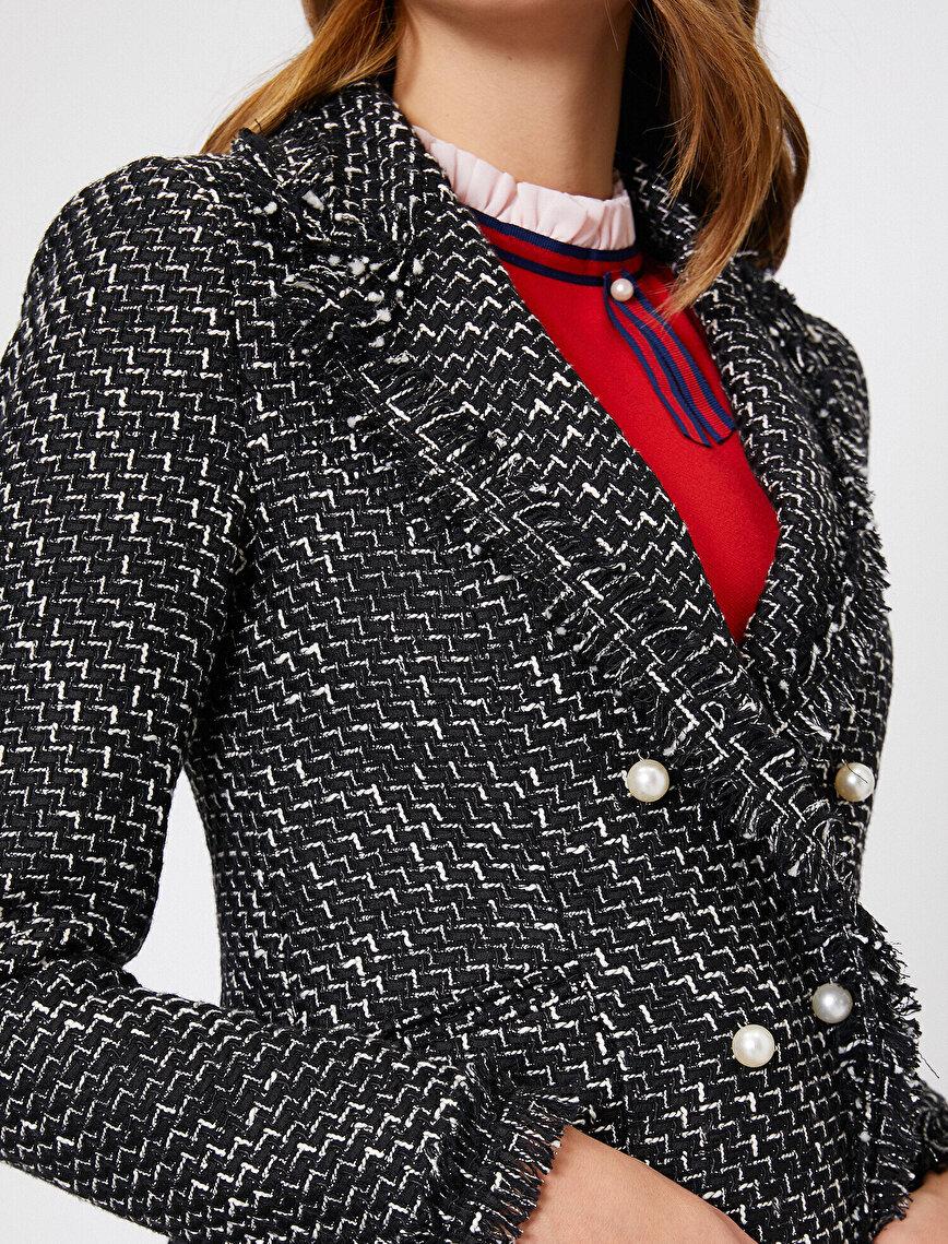 İnci Detaylı Ceket