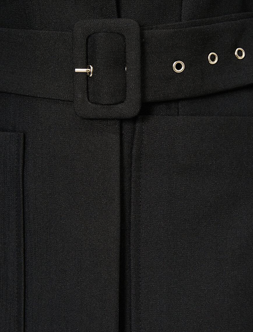 Belt Detailed Jacket