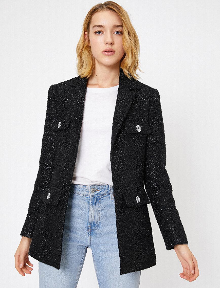 Shimmer Detailed Jacket