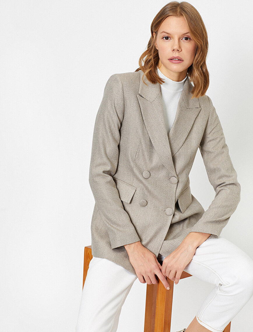 Button Detailed Jacket
