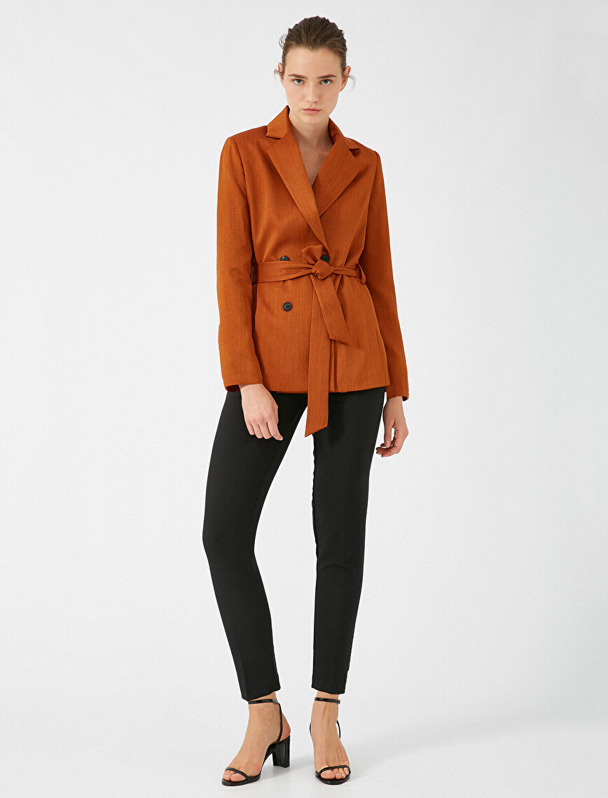 Long Sleeve Belted Jacket