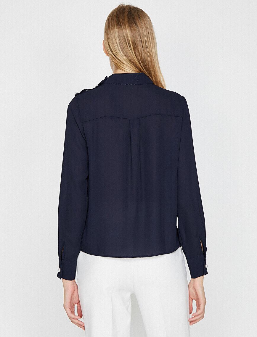 İnci Detaylı Bluz