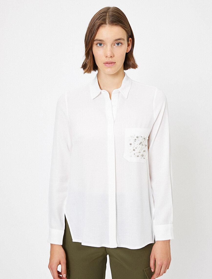 Boncuk Detaylı Gömlek