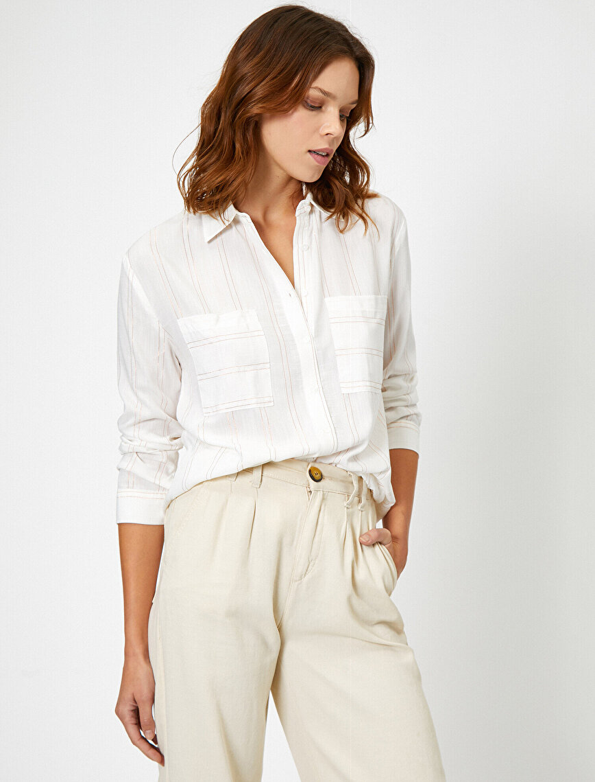 Cep Detaylı Uzun Kollu Gömlek