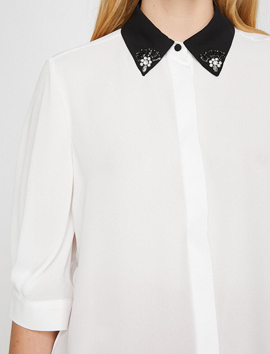 Taş Detaylı Gömlek
