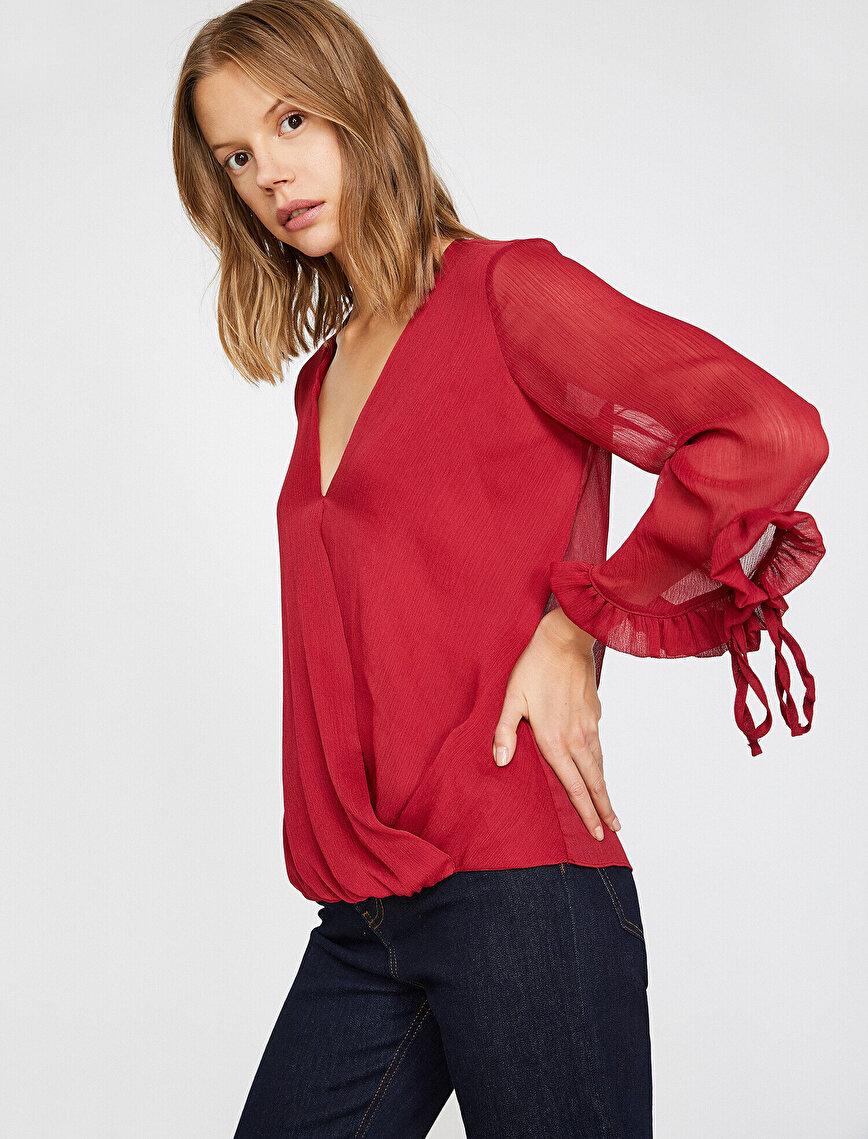 Pul Detaylı Bluz