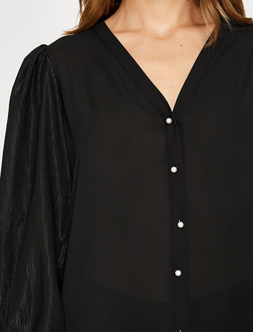 Düğme Detaylı Gömlek