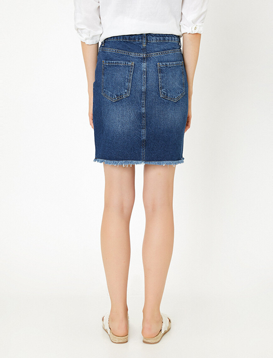 Pocket Detailed Jean Skirt