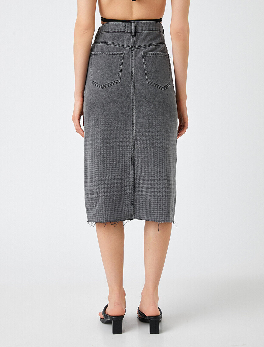 Patterned Jean Skirt