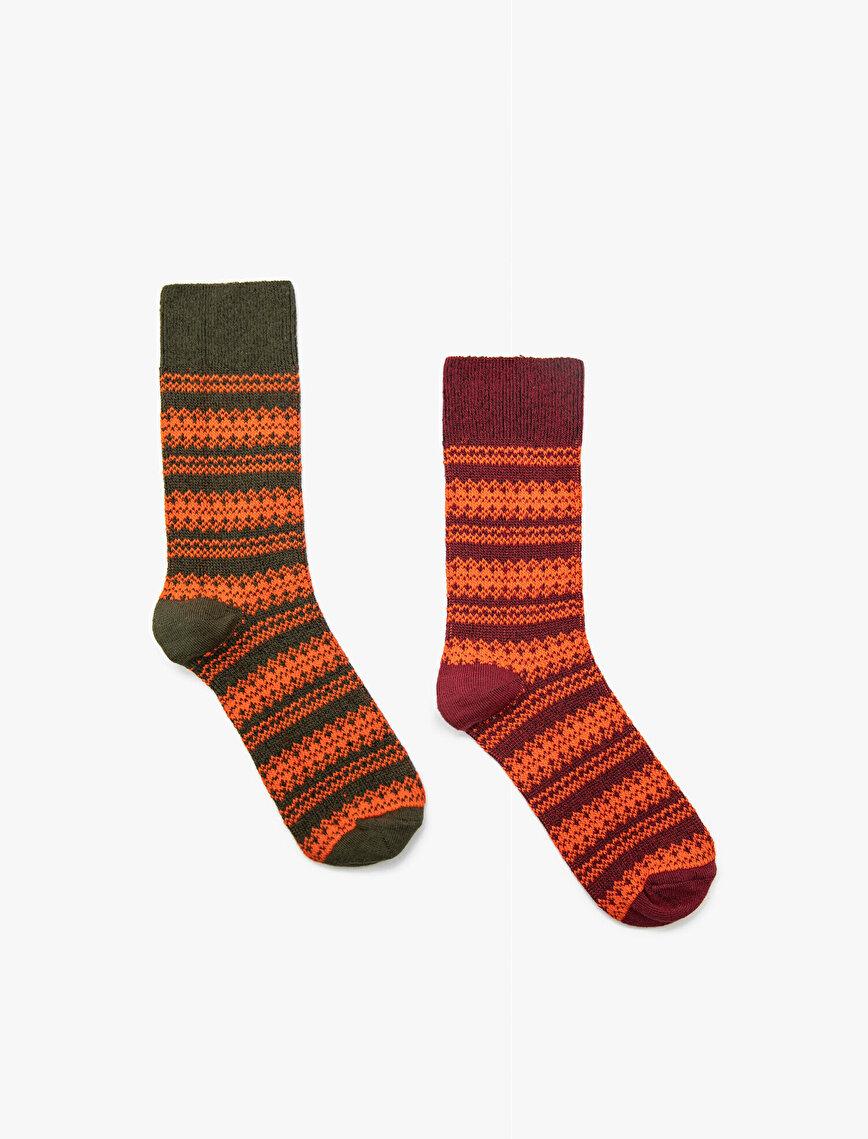 Desenli Kadın Çorap