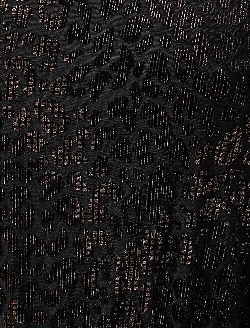 Leopar Desenli Elbise
