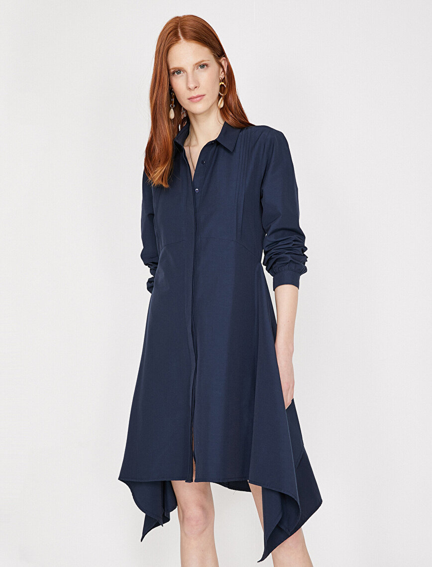 Klasik Yaka Elbise