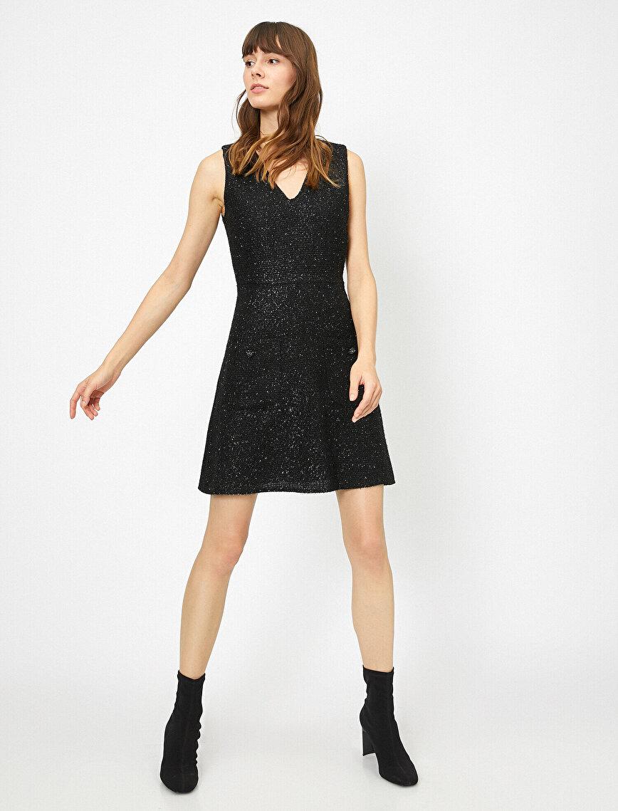 Parlak Tüvit Elbise