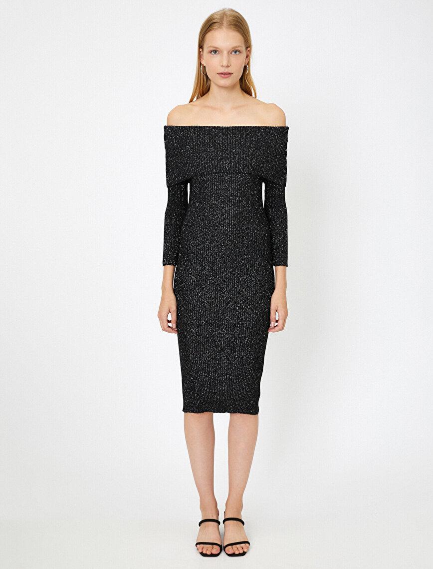 Sim Detaylı Elbise