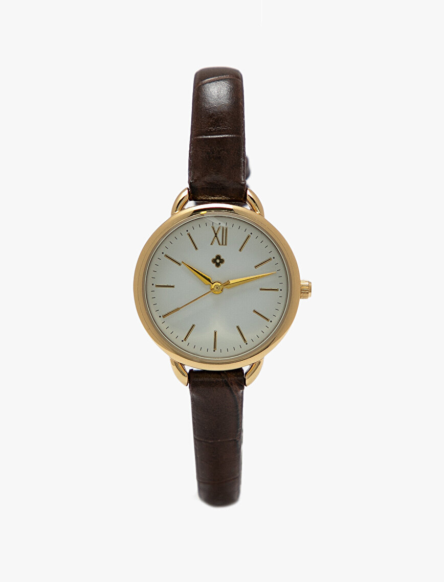 Leather Look Watch