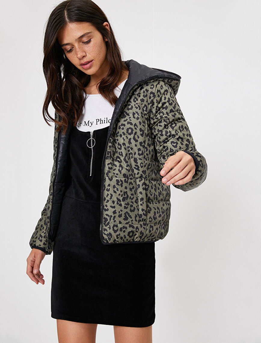 Patterned Puffer Coat